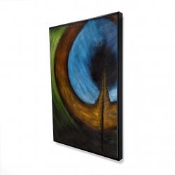 Framed 24 x 36 - 3D - Peacock feather center
