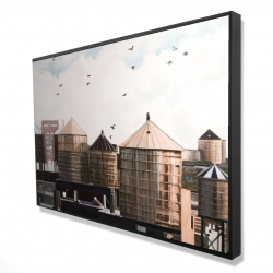 Framed 24 x 36 - 3D - Water towers