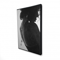 Framed 24 x 36 - 3D - Chic woman with jewels