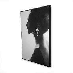 Framed 24 x 36 - 3D - Chic woman