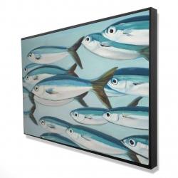 Framed 24 x 36 - 3D - Small fish of caesio caerulaurea