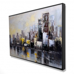 Framed 24 x 36 - 3D - Abstract city in the morning