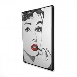 Framed 24 x 36 - 3D - Audrey hepburn outline style