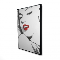Framed 24 x 36 - 3D - Marilyn monroe outline style