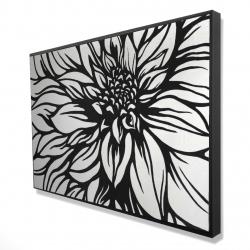 Framed 24 x 36 - 3D - Dahlia flower outline style