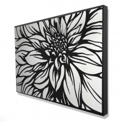 Framed 24 x 36 - 3D - Dahlia flower outline style