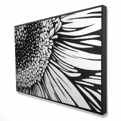 Framed 24 x 36 - 3D - Gerbera flower