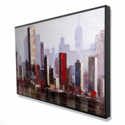 Framed 24 x 36 - 3D - Industrial city