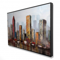 Framed 24 x 36 - 3D - Rust looking city