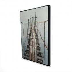 Framed 24 x 36 - 3D - Old abandoned bridge