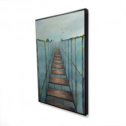 Framed 24 x 36 - 3D - Old and dangerous bridge