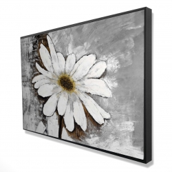 Framed 24 x 36 - 3D - Abstract daisy