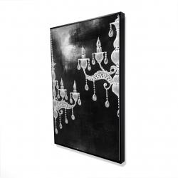 Framed 24 x 36 - 3D - White chandeliers