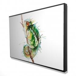 Framed 24 x 36 - 3D - Watercolor chameleon