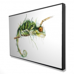 Framed 24 x 36 - 3D - Chameleon on the lookout