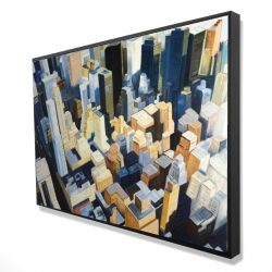 Framed 24 x 36 - 3D - Manhattan view of the empire state building