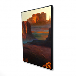 Framed 24 x 36 - 3D - Monument valley tribal park in arizona