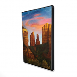 Framed 24 x 36 - 3D - Cathedral rock in arizona