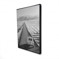 Framed 24 x 36 - 3D - Car on the road