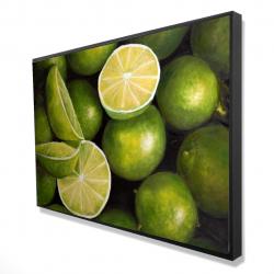 Framed 24 x 36 - 3D - Basket of limes