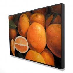 Framed 24 x 36 - 3D - Fresh oranges