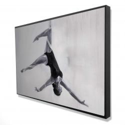 Framed 24 x 36 - 3D - Dancer on aerial silks