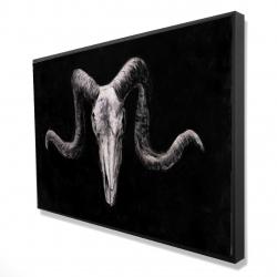 Framed 24 x 36 - 3D - Skeleton skulls grunge style