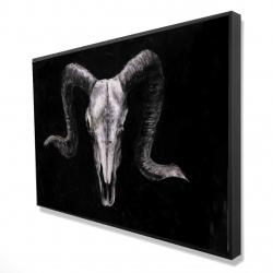 Framed 24 x 36 - 3D - Ram skull grunge style