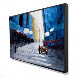 Framed 24 x 36 - 3D - Blue buildings