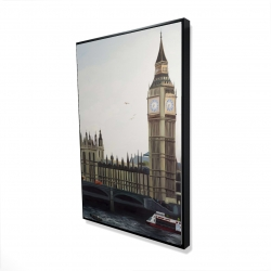 Framed 24 x 36 - 3D - Big ben clock elizabeth tower in london
