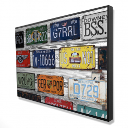 Framed 24 x 36 - 3D - Number plates