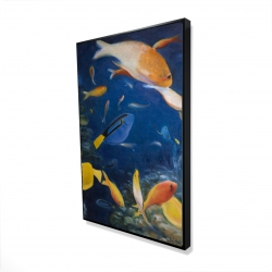Framed 24 x 36 - 3D - Colorful fish under the sea