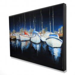 Framed 24 x 36 - 3D - Evening at the marina