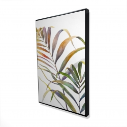 Framed 24 x 36 - 3D - Watercolor tropical palm leaves
