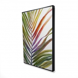 Framed 24 x 36 - 3D - Watercolor tropical palm leave