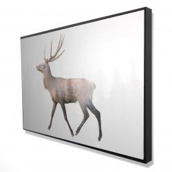 Encadré 24 x 36 - 3D - Chevreuil et forêt
