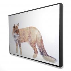 Encadré 24 x 36 - 3D - Renard et forêt