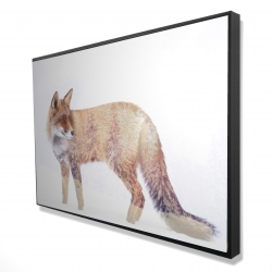 Framed 24 x 36 - 3D - Forest and fox