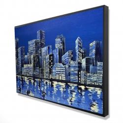 Framed 24 x 36 - 3D - City in blue