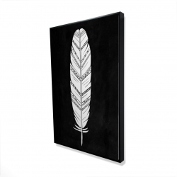 Framed 24 x 36 - 3D - Feather with patterns