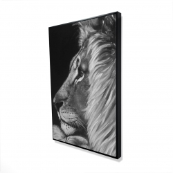Framed 24 x 36 - 3D - Lion and lioness