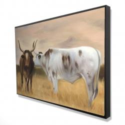 Framed 24 x 36 - 3D - Nguni herd