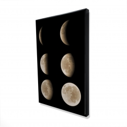 Framed 24 x 36 - 3D - Eclipse in six phases