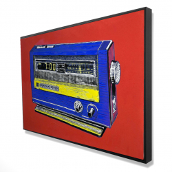 Framed 24 x 36 - 3D - Retro radio alarm