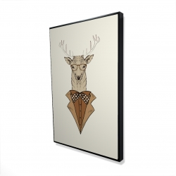 Framed 24 x 36 - 3D -  deer with brown coat
