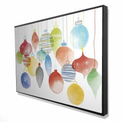 Framed 24 x 36 - 3D - Christmas' balls