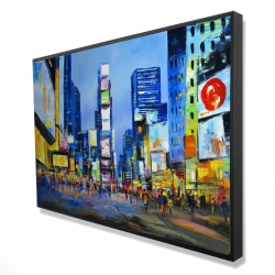 Framed 24 x 36 - 3D - Cityscape with colorful ads