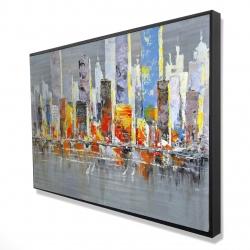 Framed 24 x 36 - 3D - Color splash cityscape
