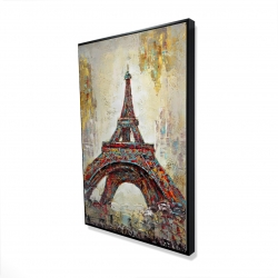 Framed 24 x 36 - 3D - Abstract eiffel tower