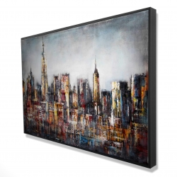 Framed 24 x 36 - 3D - Dark cityscape